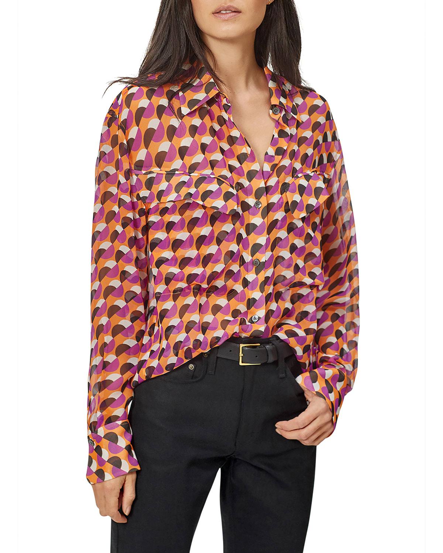 Nanine Abstract Silk Shirt