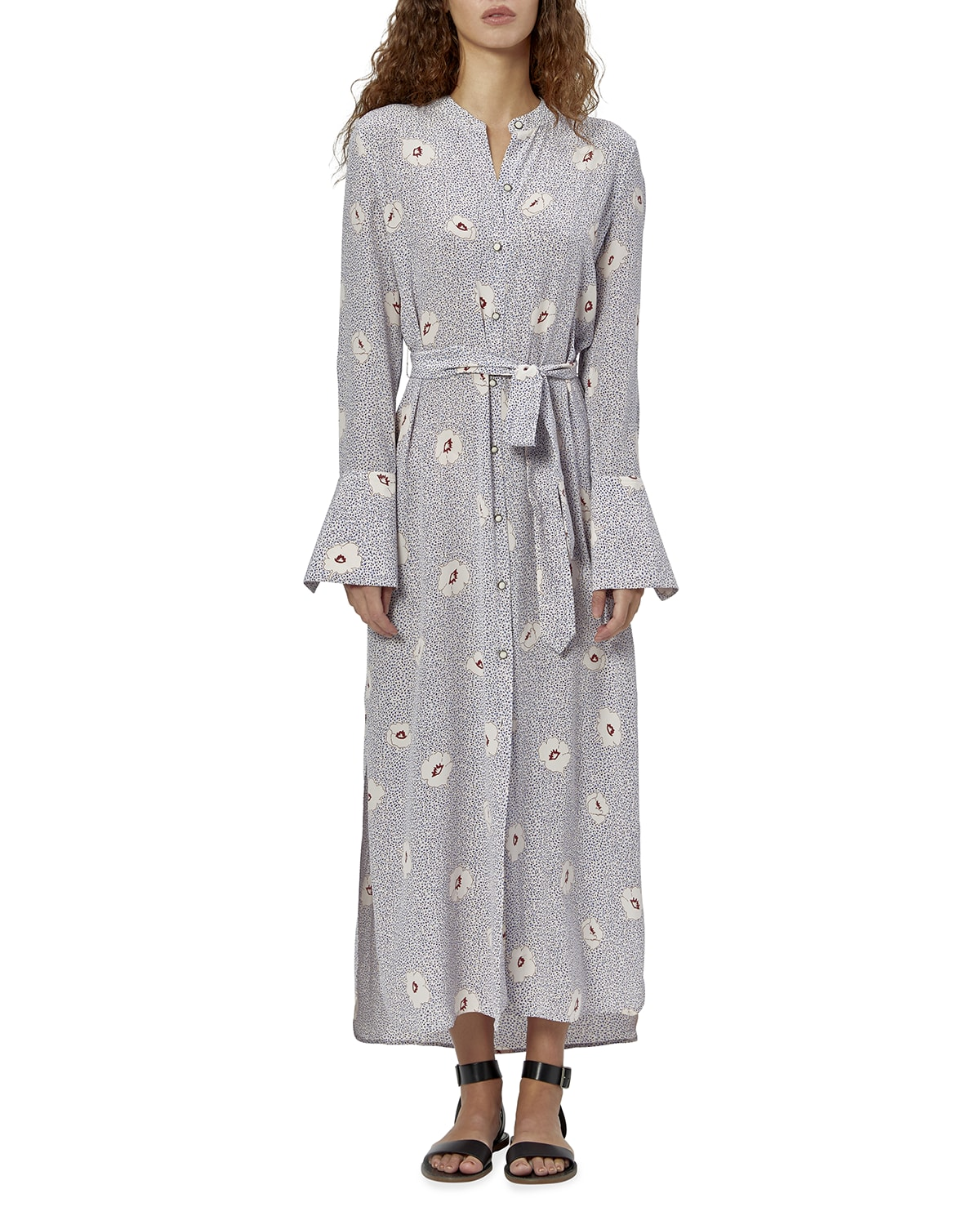 Connell Floral Maxi Shirtdress