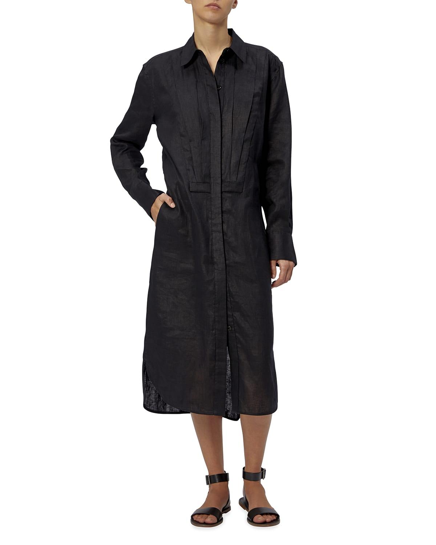 Lorand Midi Linen Gauze Dress