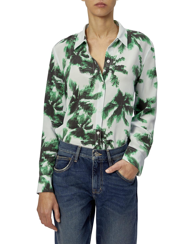 Leema Printed Silk Shirt