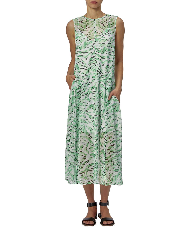 Tanielle Printed Silk Midi Dress