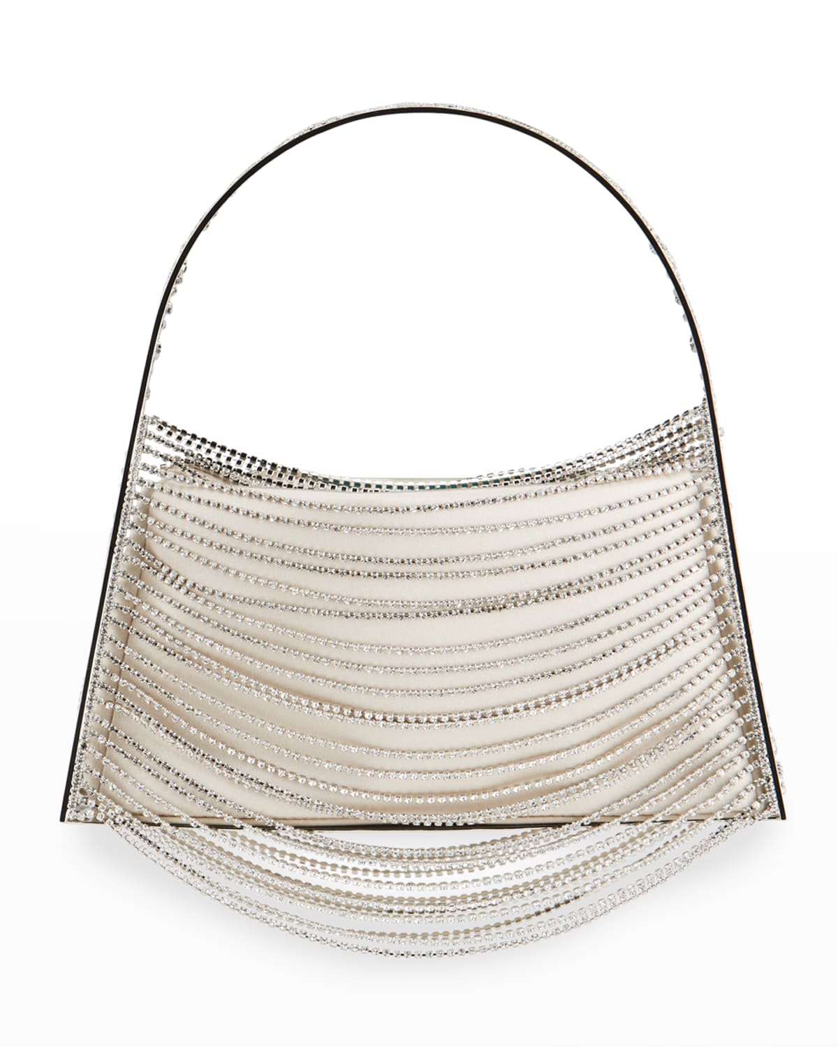 Lucia In The Sky Crystal-Chain Top Handle Bag