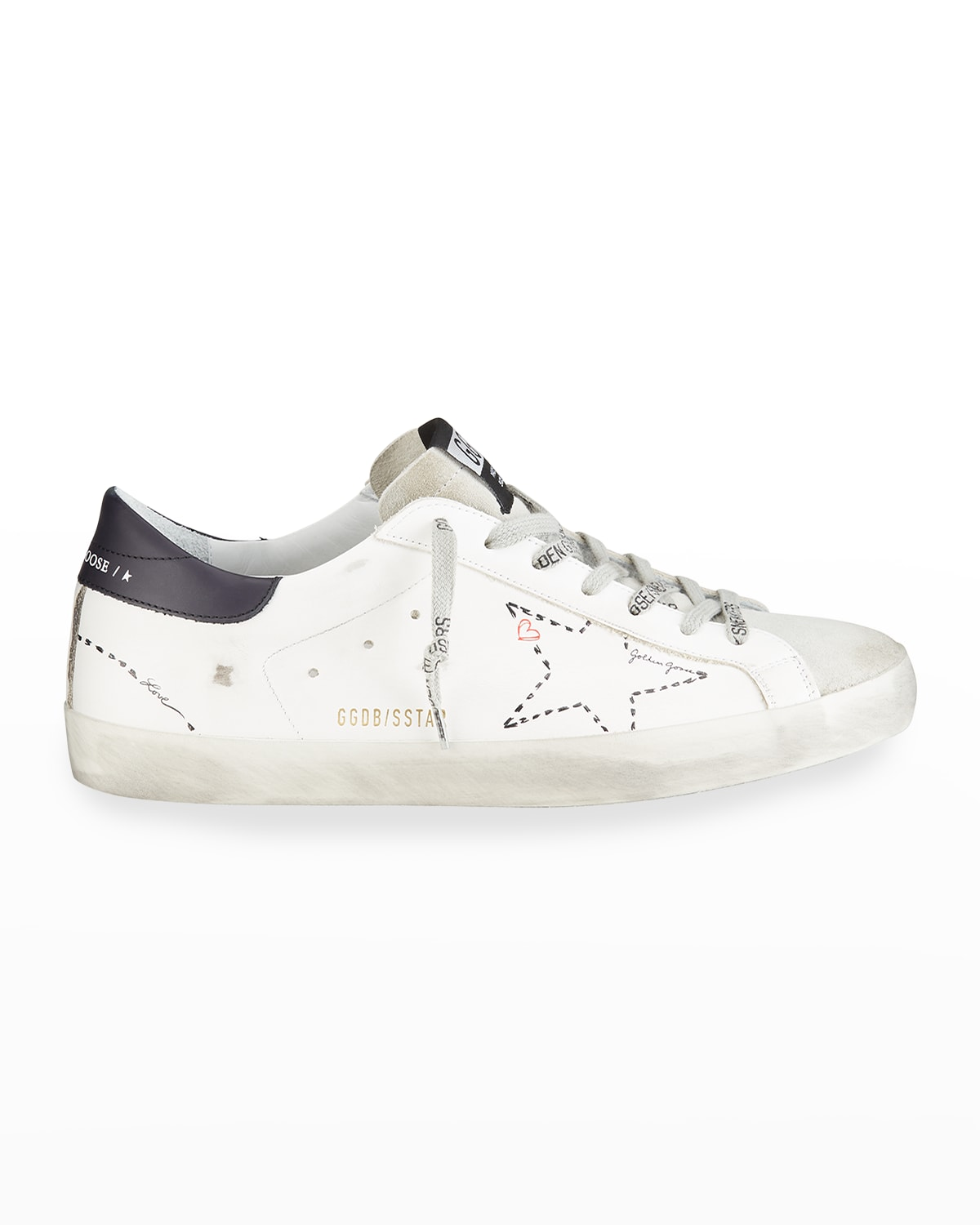 Men's SuperStar Dotted Outline Print Low-Top Sneakers