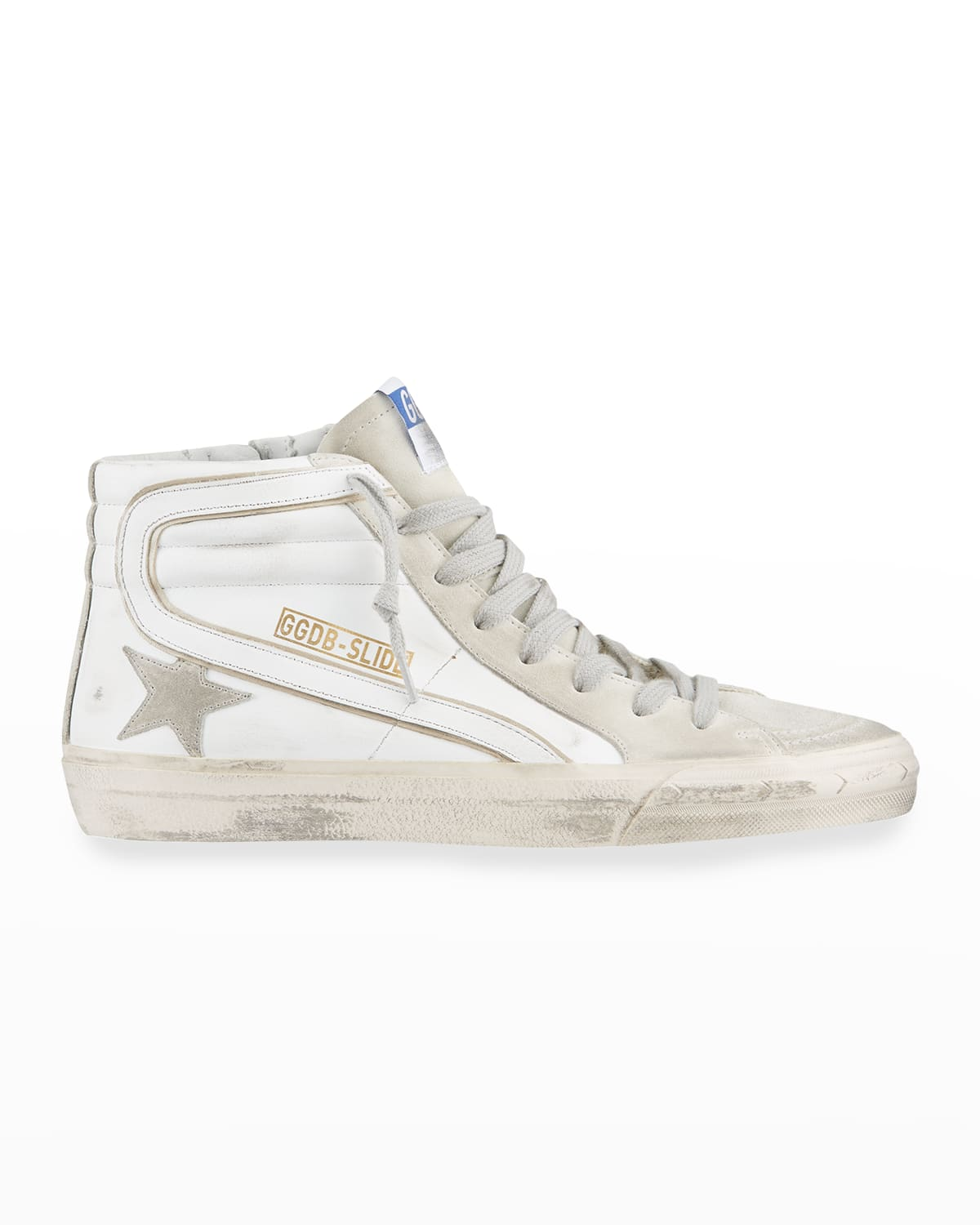 Men's SuperStar Mix-Leather High-Top Sneakers