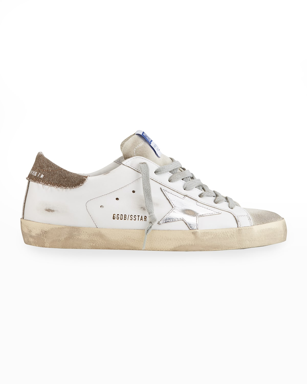 Men's Super Star Distressed Leather Low-Top Sneakers