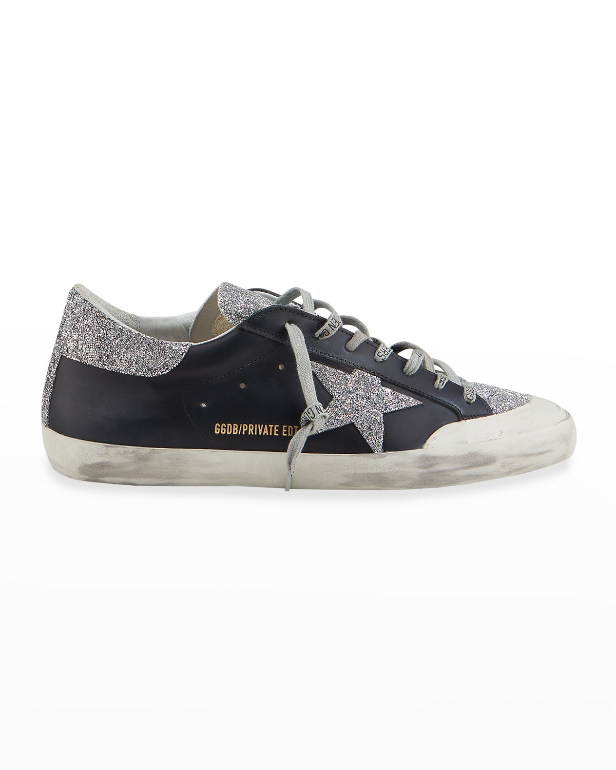 Men's Super Star Crystal Leather Low-Top Sneakers