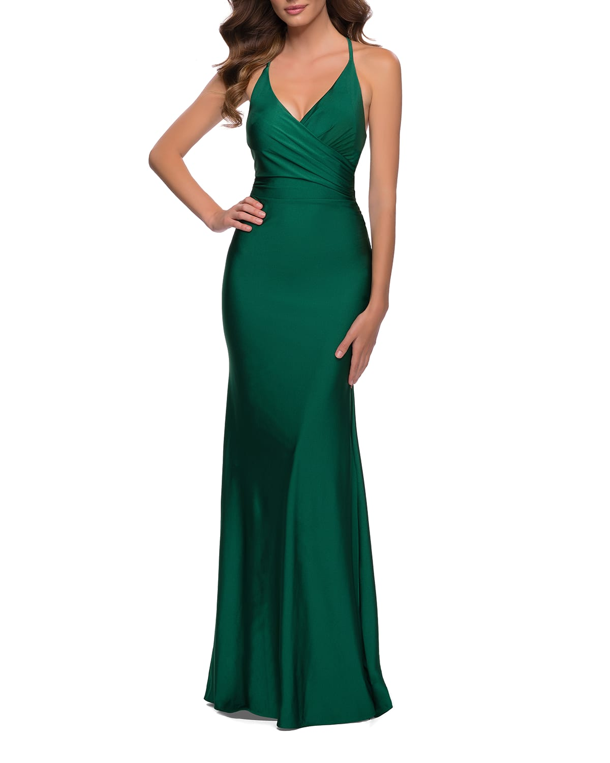 Fitted Jersey Halter Gown