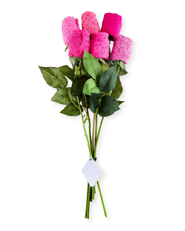 Half Dozen Rosebud Original-Rise Lace Thongs in Florist Box
