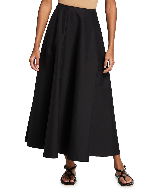 Helena Long Stretch Cotton Skirt