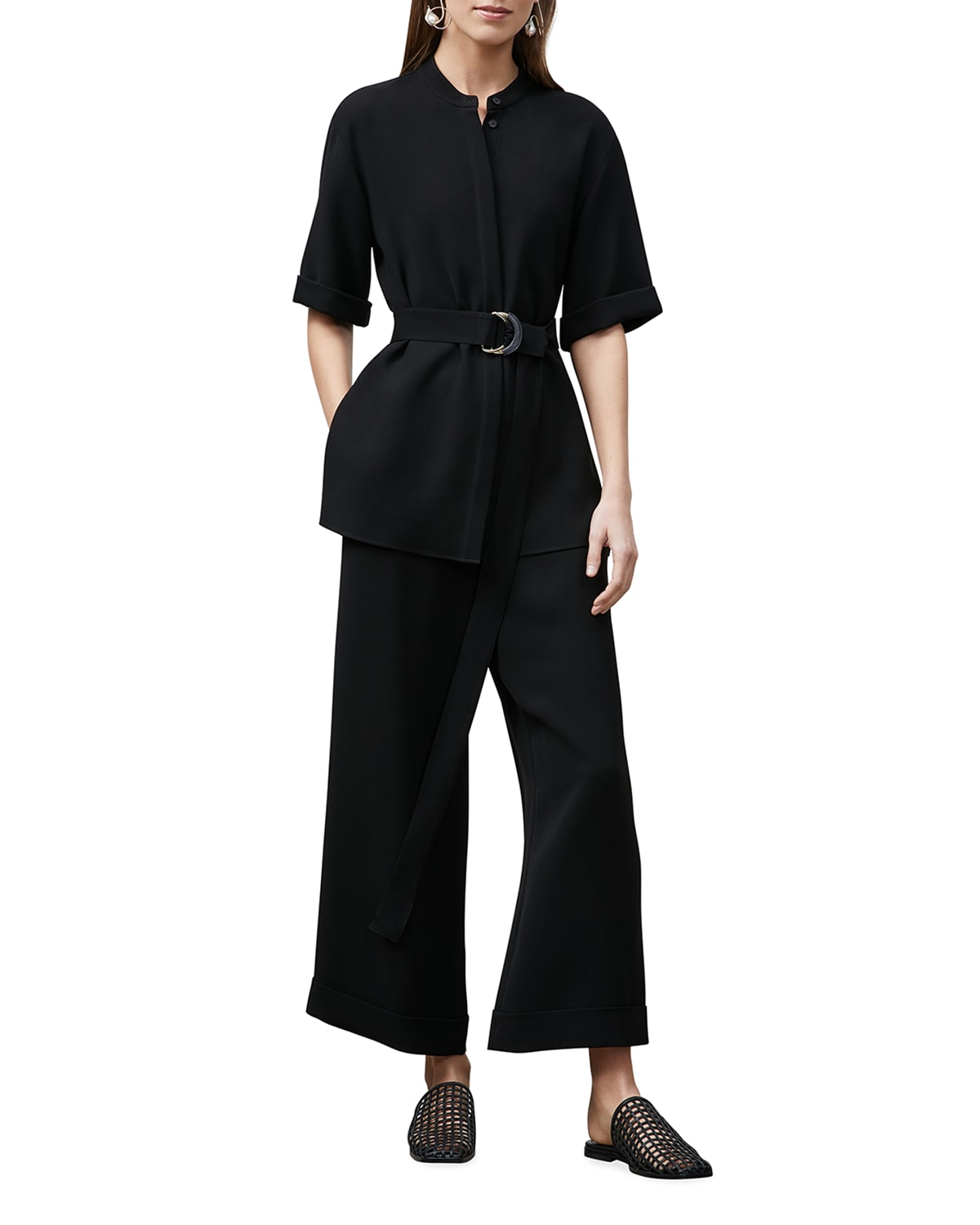 Alyse Belted Finesse Crepe Blouse