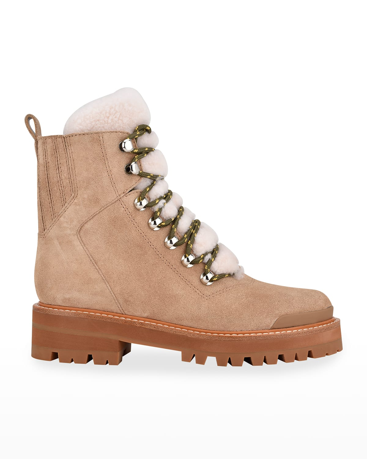 Lizzie Leather Shearling Winter Booties