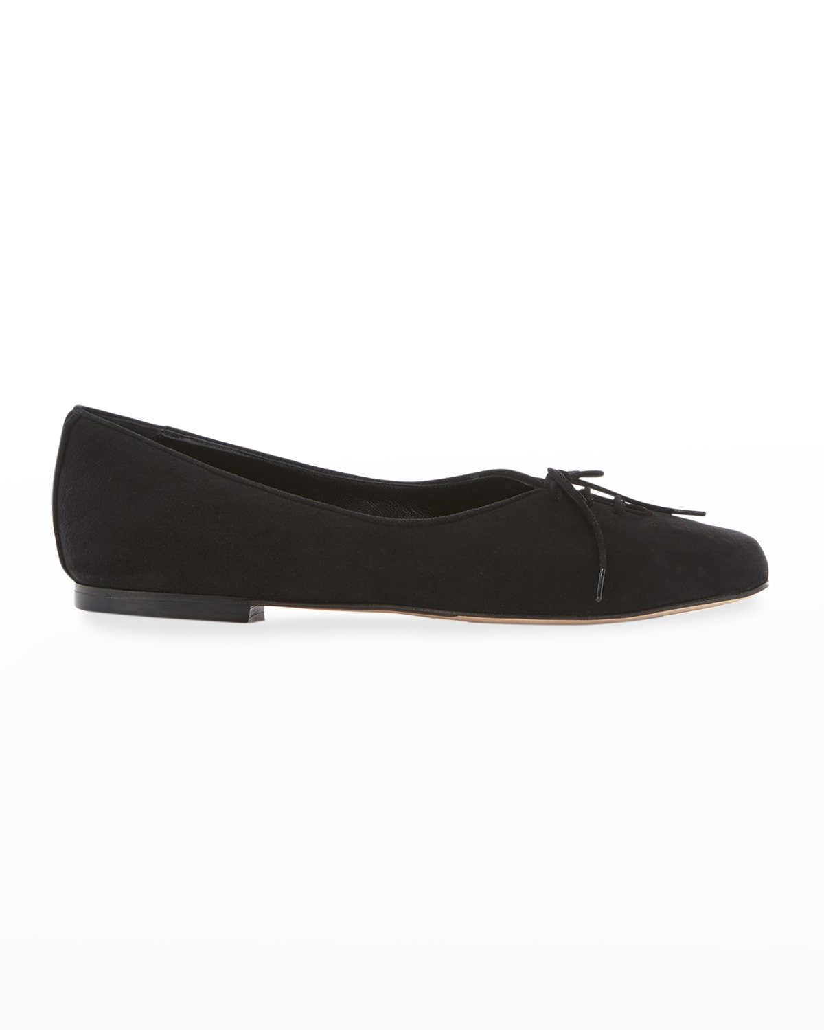 Rosie Suede Lace-Up Ballerina Flats