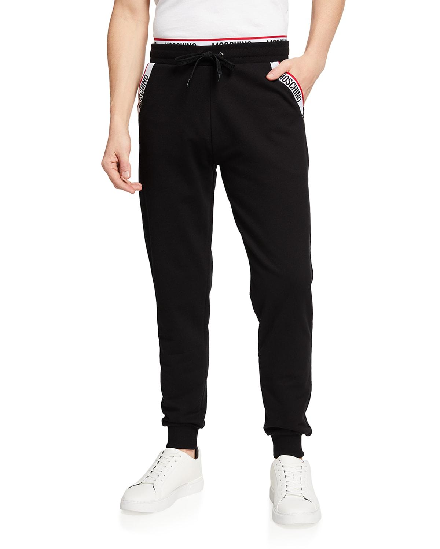 Men's Sweatpants With Logo Taping