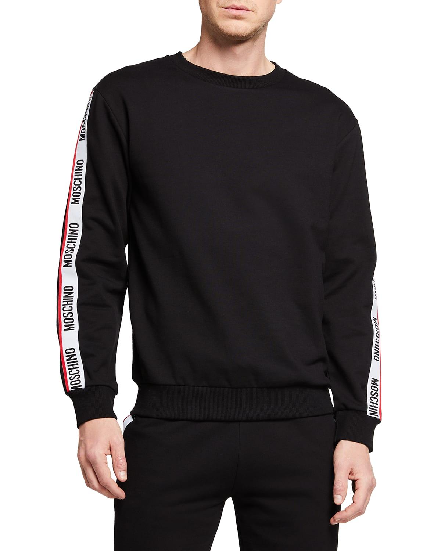 Men's Crew Sweater w/ Logo Taping