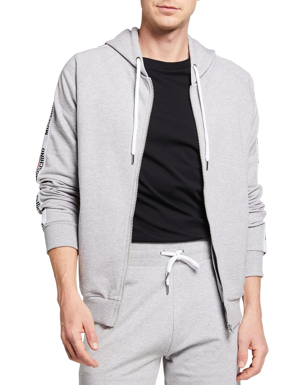 Men's Full-Zip Hoodie with Logo Taping