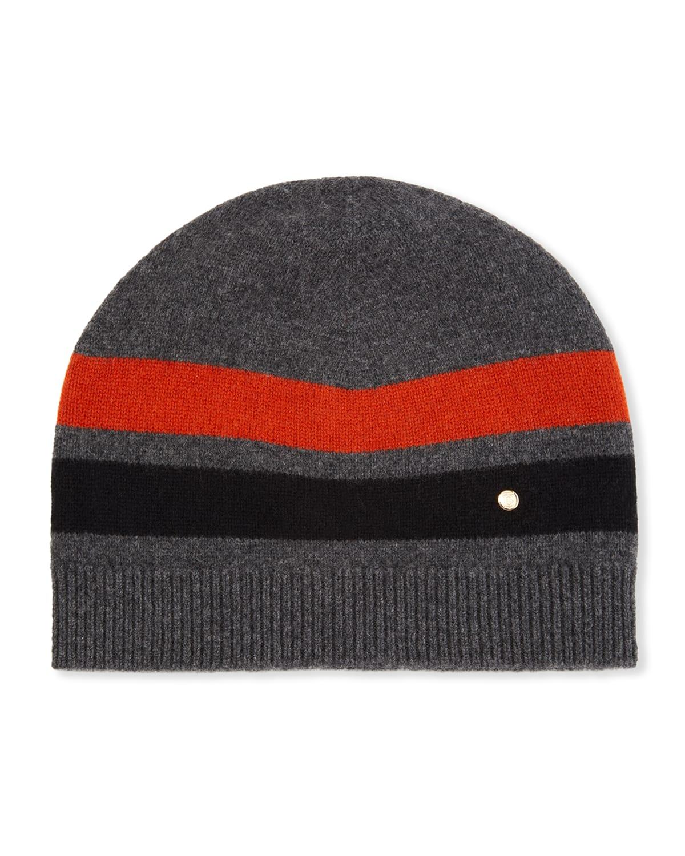 Men's Graphic-Stripe Beanie Hat