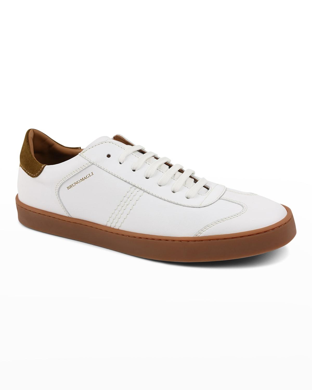 Men's Bono Calf Leather Low-Top Sneakers