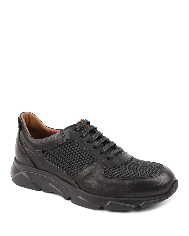 Men's Lazise Leather/Nylon Trainer Sneakers