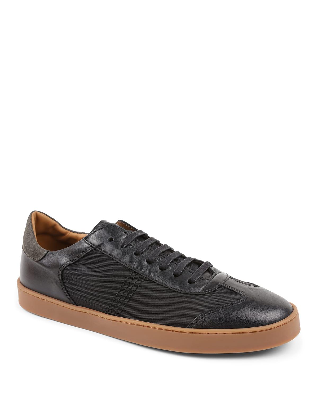 Men's Bono Leather/Nylon Low-Top Sneakers