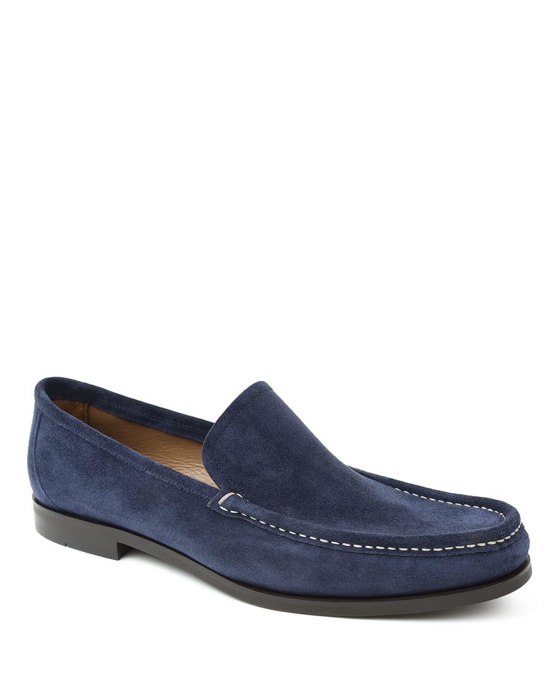 Men's Encino Moc-Toe Suede Loafers