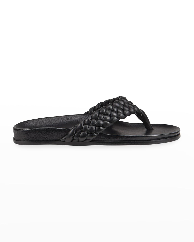 Carly Braided Napa Thong Sandals