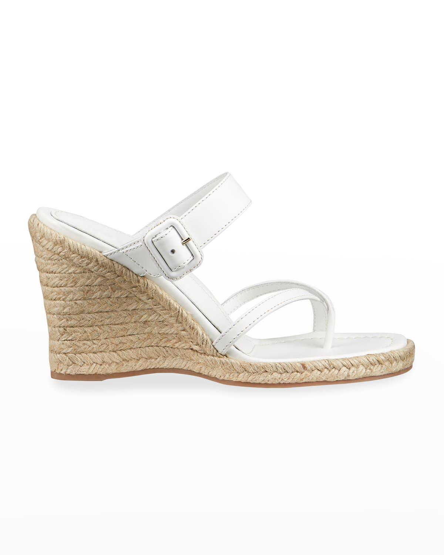 Lindsay Calfskin Wedge Espadrille Sandals