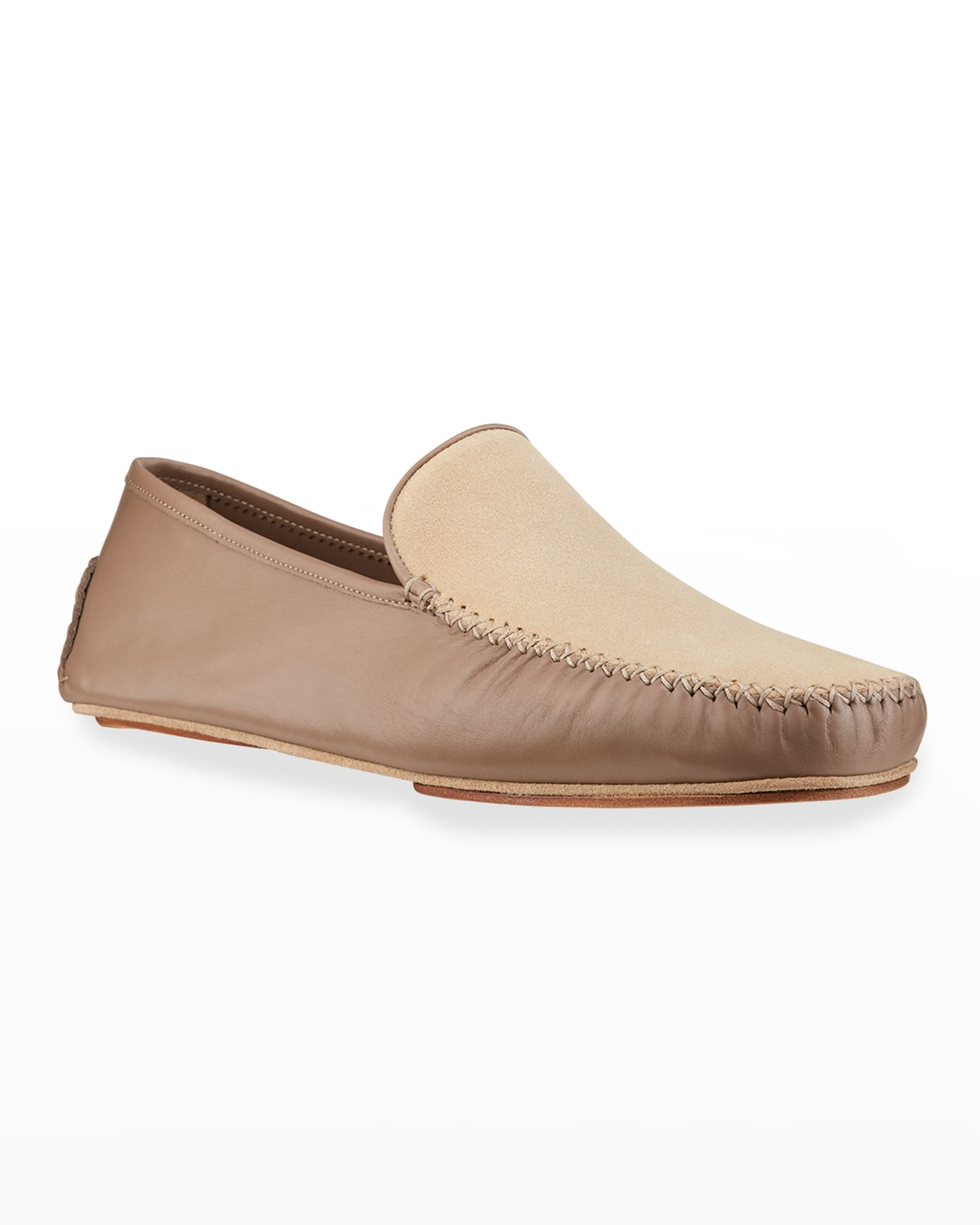 Men's Mayfair Suede and Leather Slippers