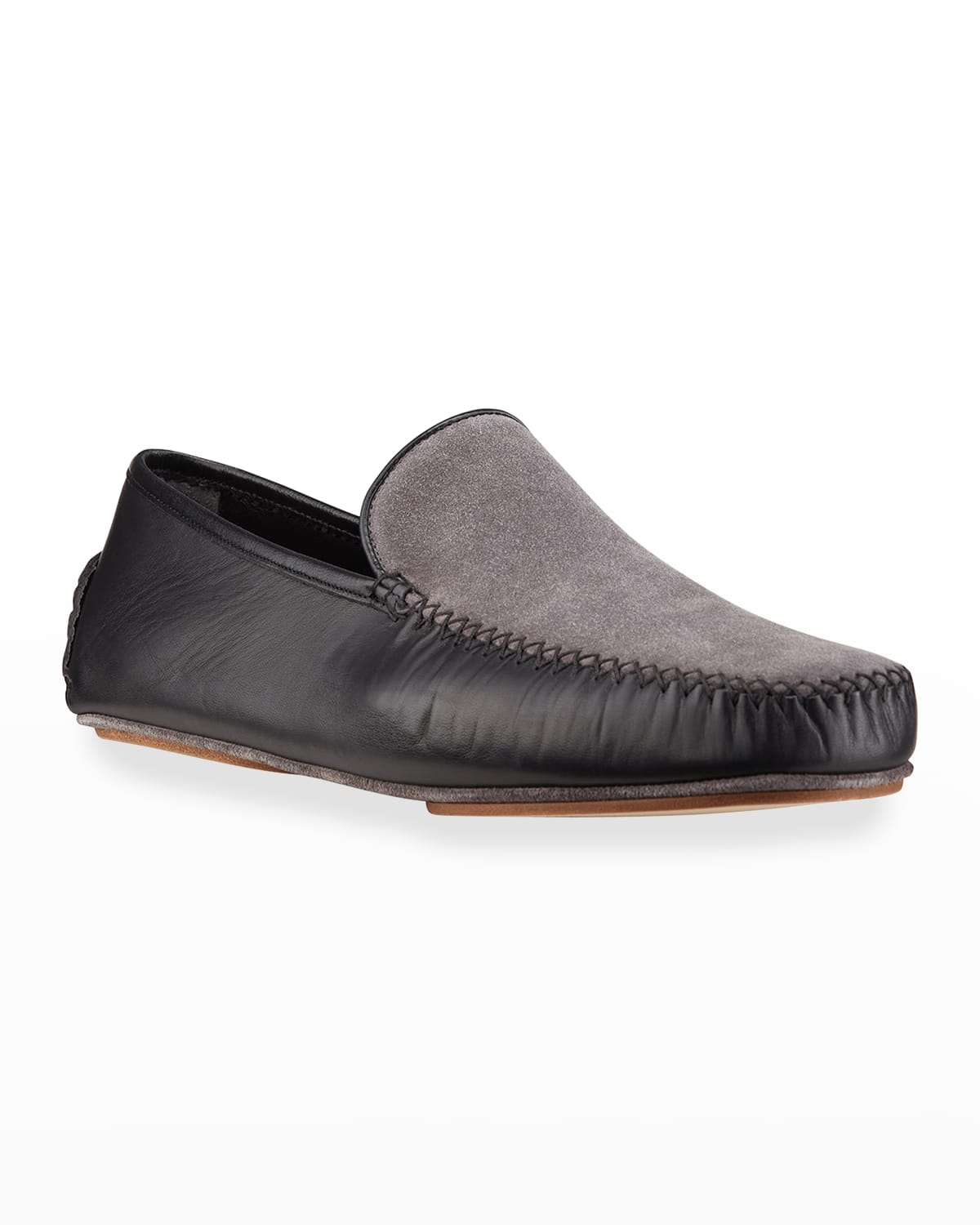Men's Mayfair Leather and Suede Slippers