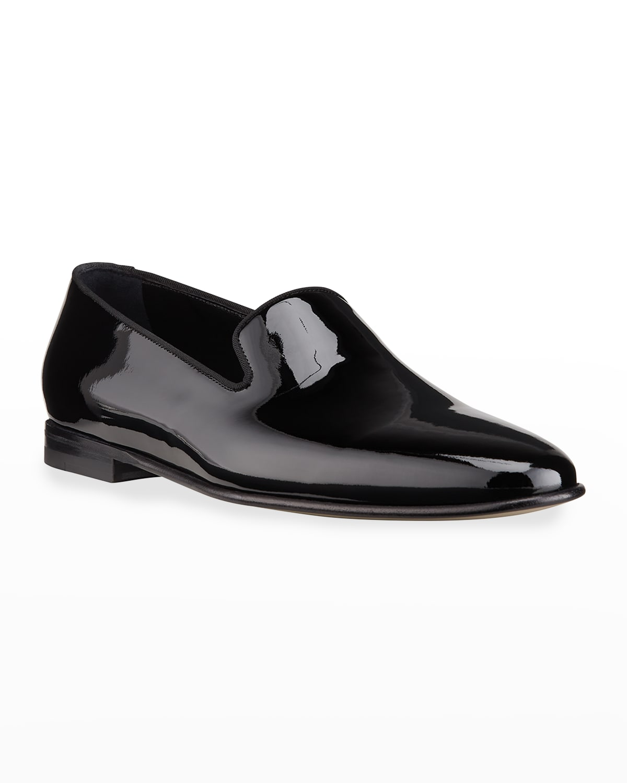 Men's Mario Patent Leather Slippers