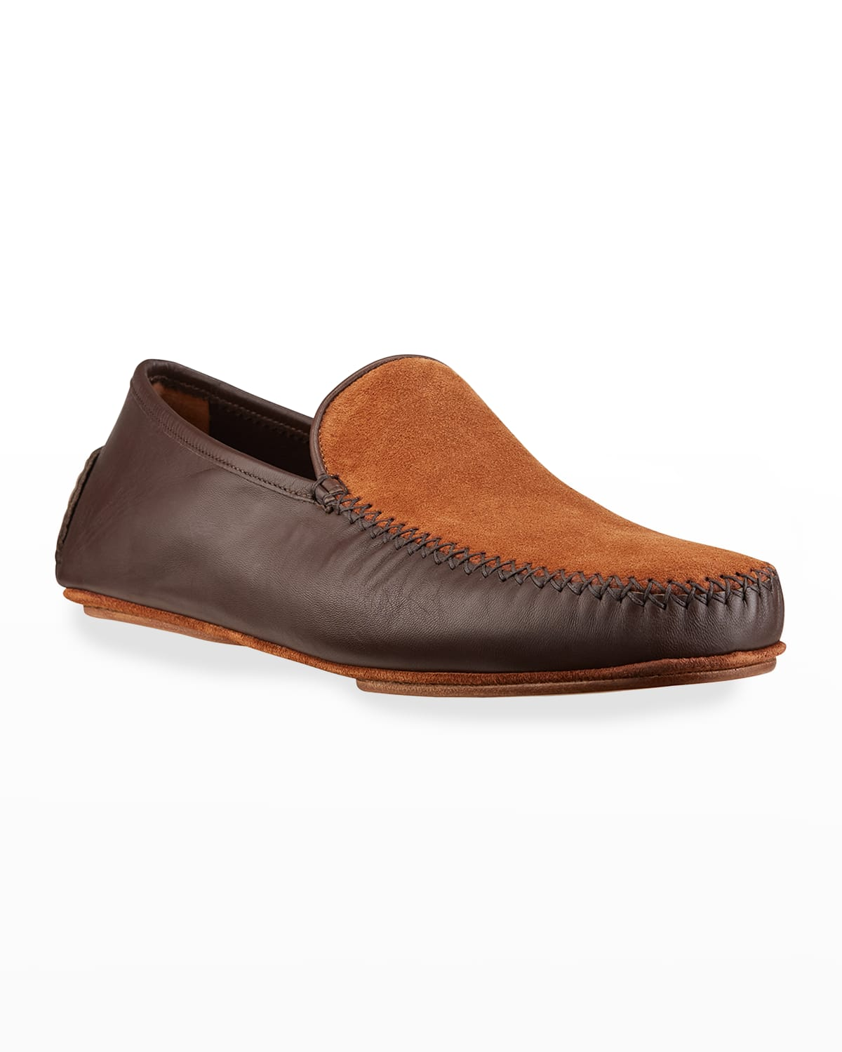 Men's Mayfair Two-Tone Suede and Leather Slippers