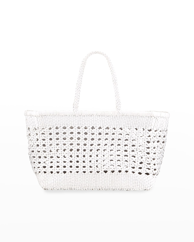 Cannage Max Woven Cutout Shopper Tote Bag