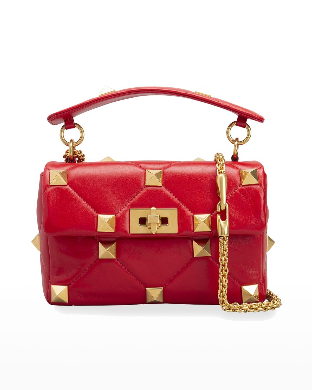 Roman Stud Medium Quilted Chain Shoulder Bag