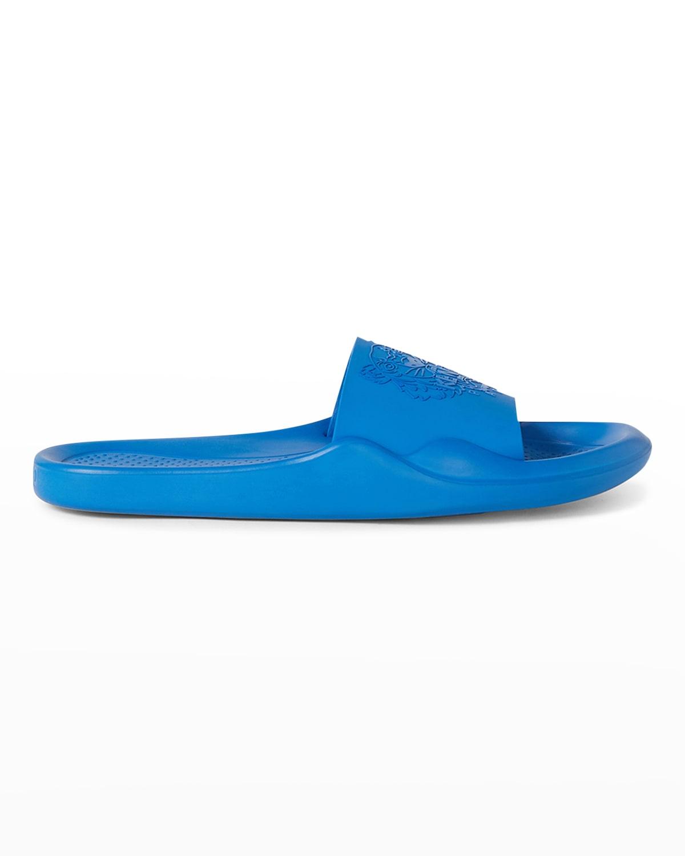 Men's Tonal Tiger Logo Pool Slide Sandals