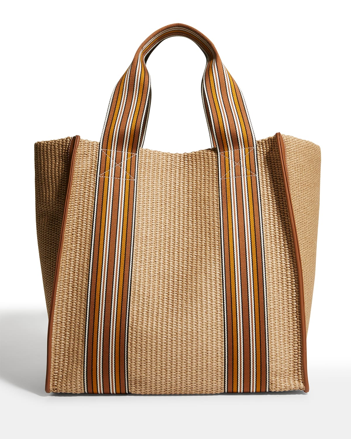 The Suitcase Stripe Woven Tote Bag