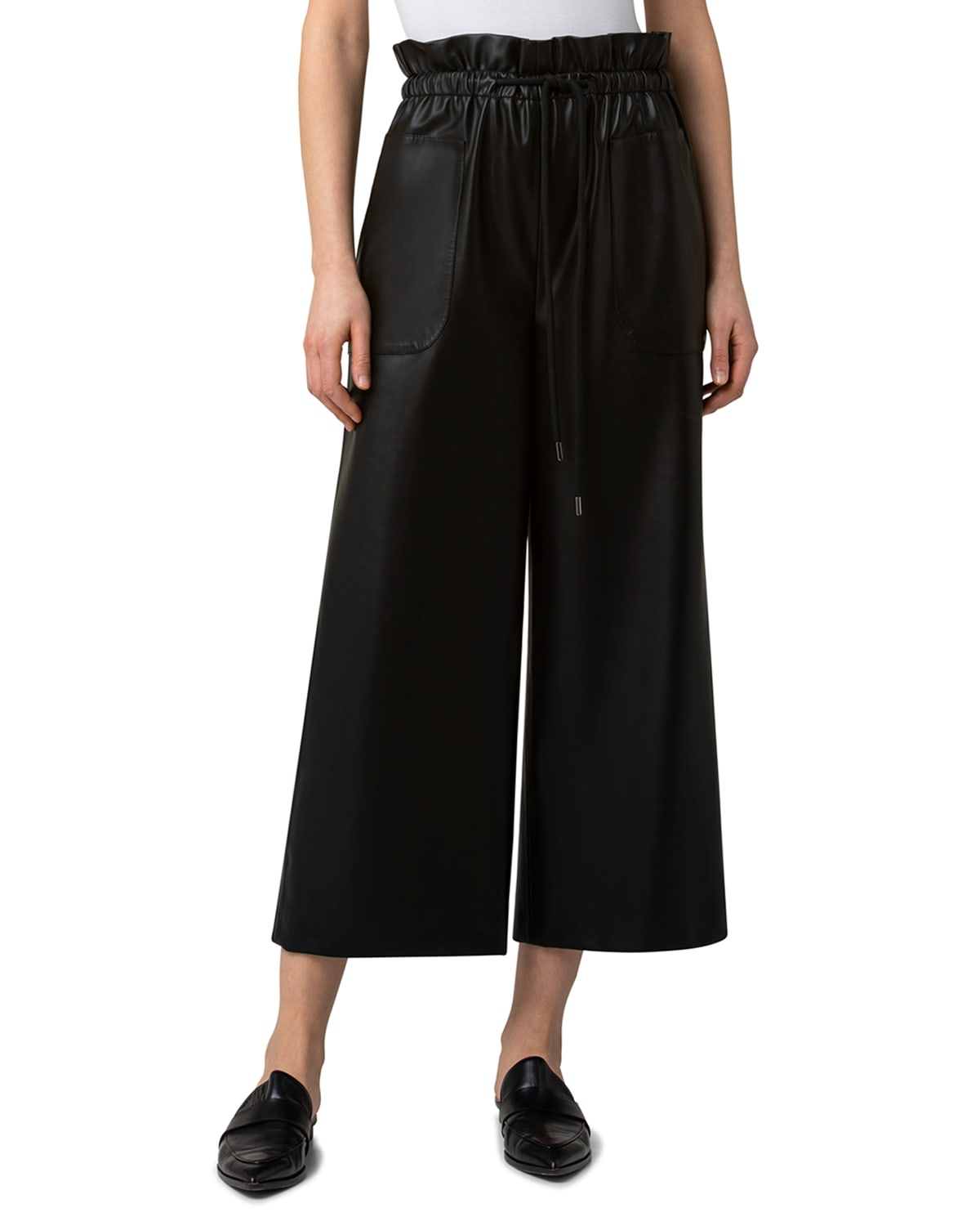 Frey Faux-Leather Culottes