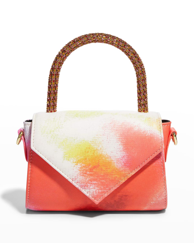 Cookie Tie Dye Crystal-Handle Satchel Bag