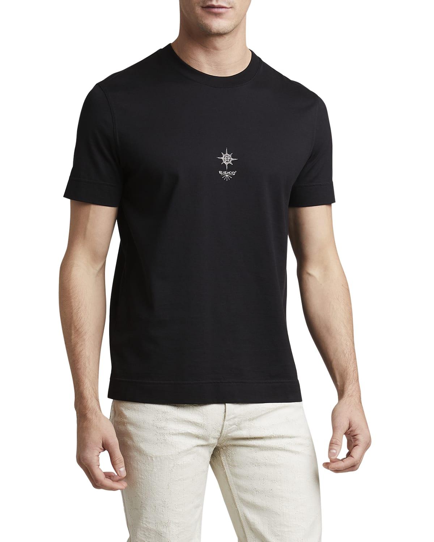 Men's Slim-Fit Cross-Printed T-Shirt