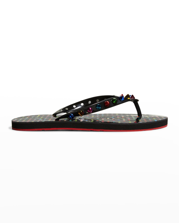 Loubi Spike Rubber Pool Sandals