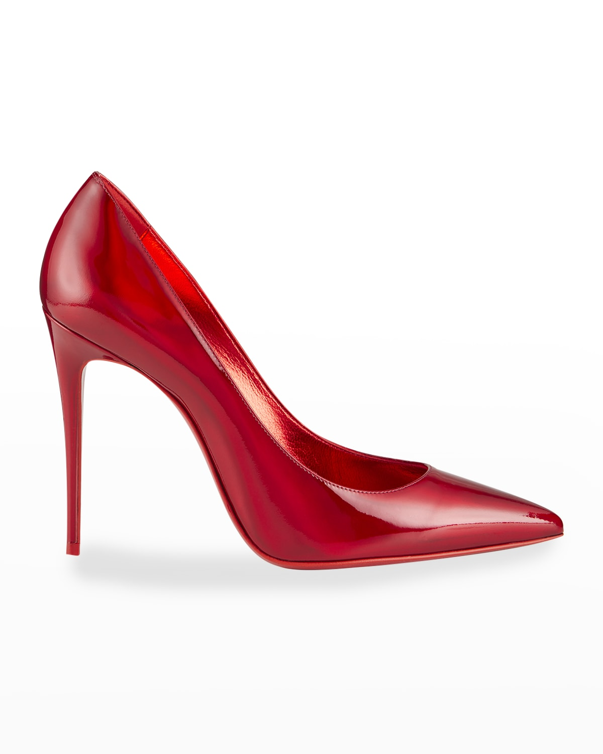 Kate Patent Pointed-Toe Red Sole High-Heel Pumps