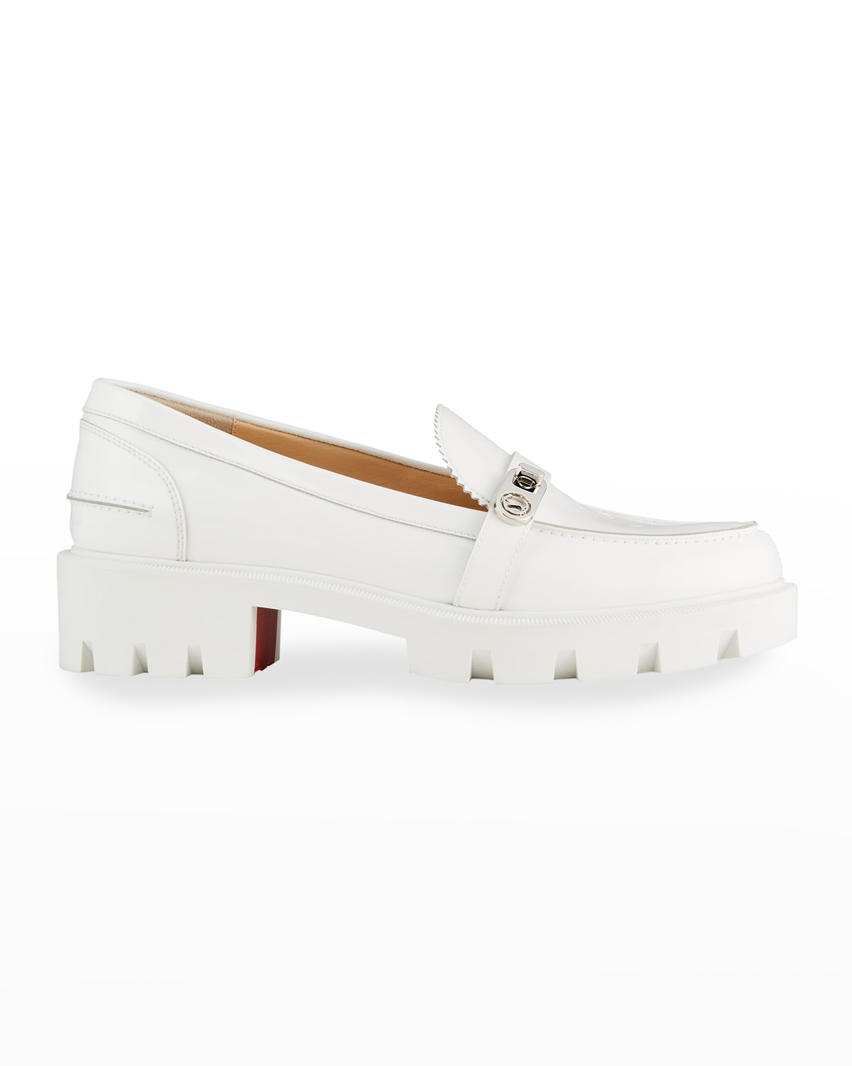 Lock Woody Patent Red Sole Loafers