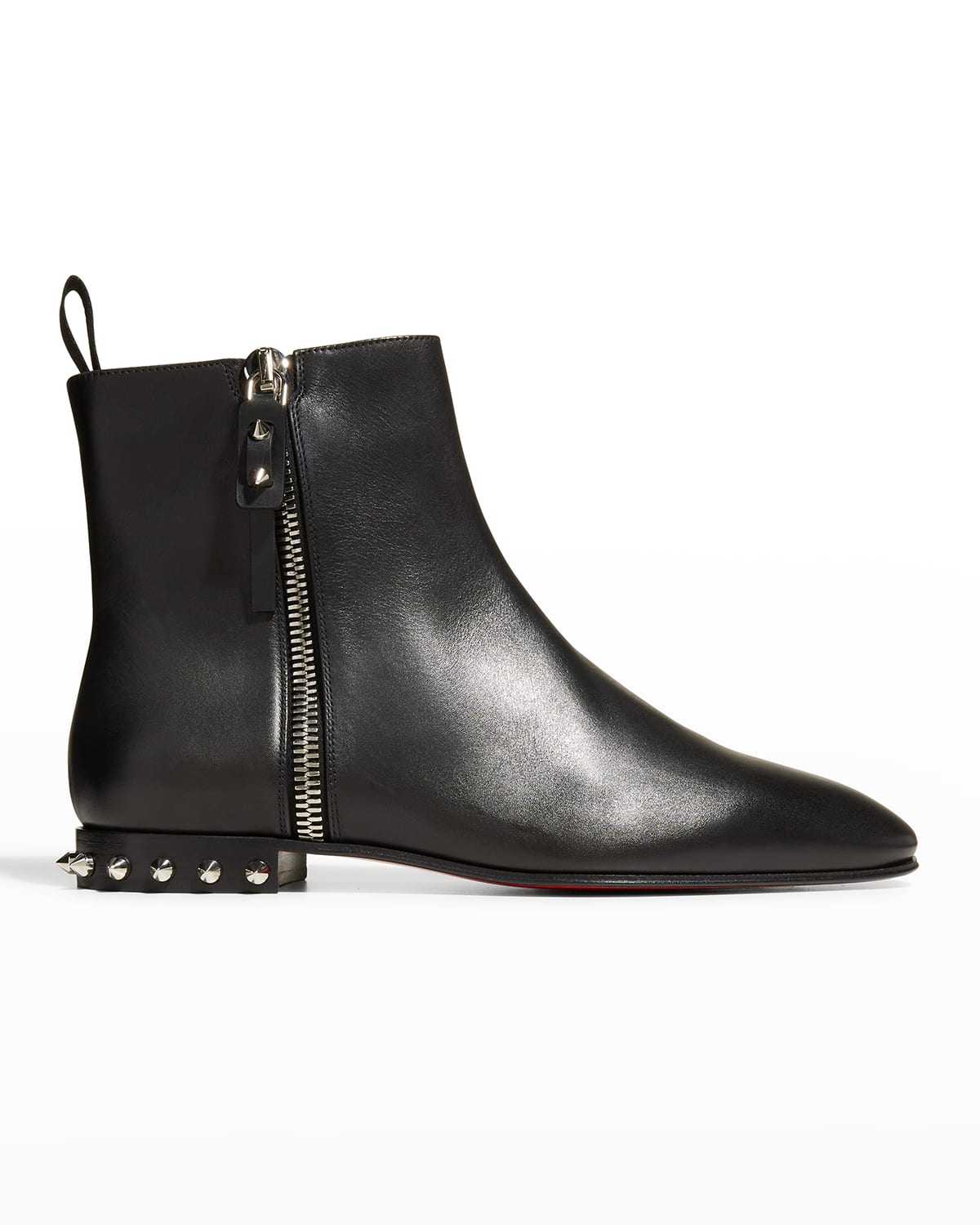 Roadirik Donna Spiked Leather Red Sole Booties