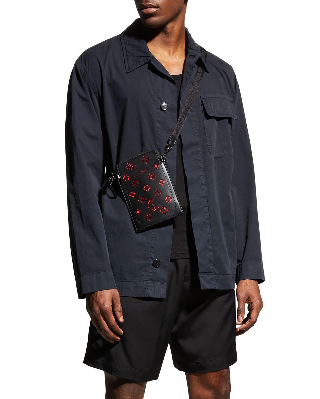 Men's Loubilab Perforated Logo Crossbody Bag