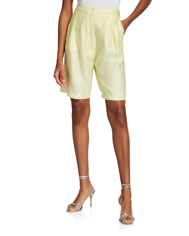 Rose High-Rise Linen Shorts