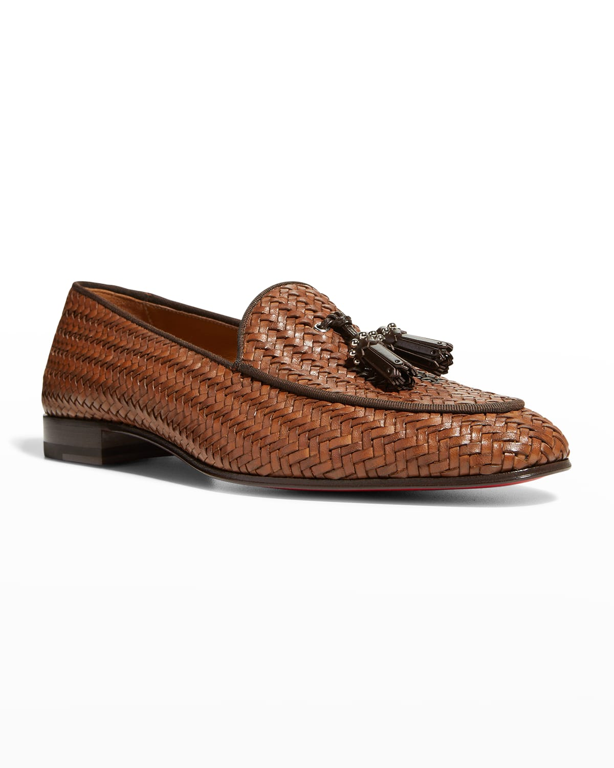 Men's King Nile Braided Tassel Red Sole Loafers