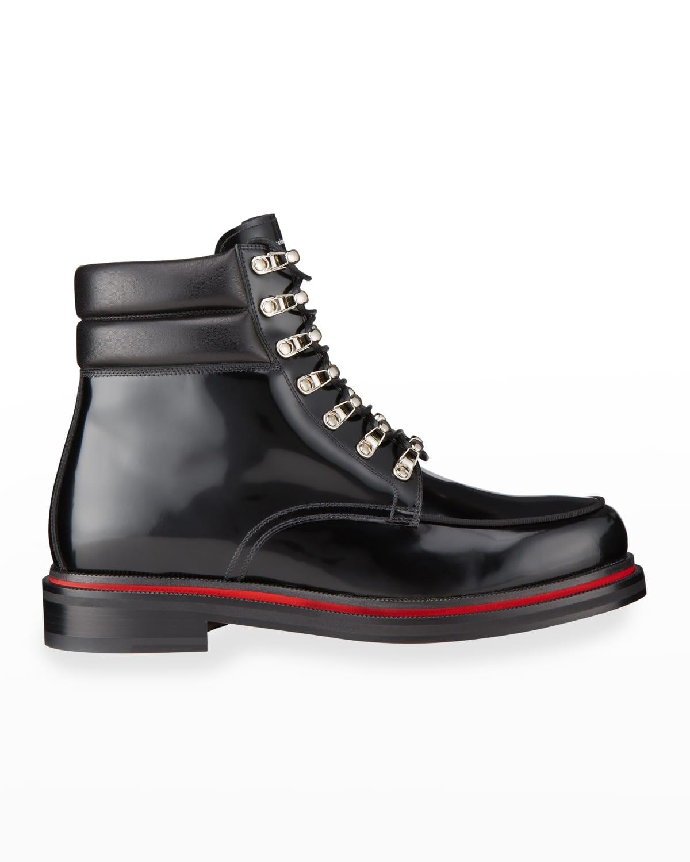 Men's Alopista Patent Leather Combat Boots