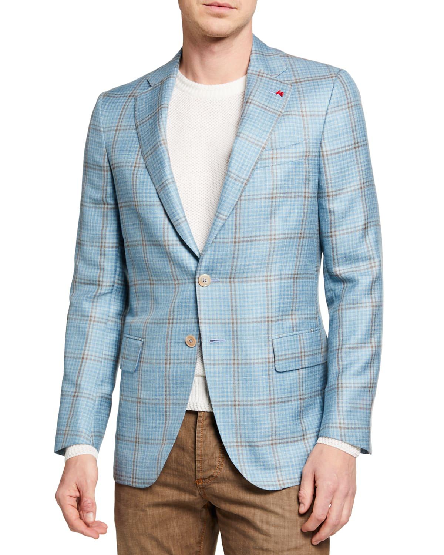 Men's Check Two-Button Jacket