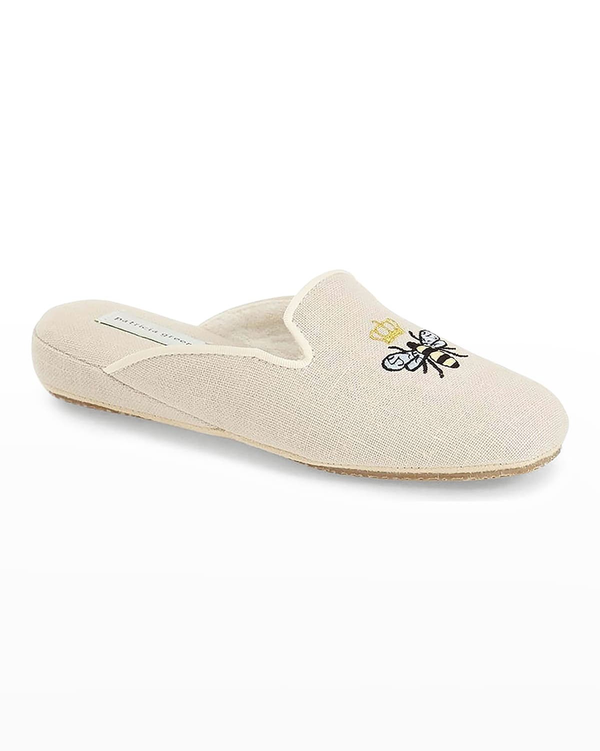 Queen Bee Embroidered Slippers