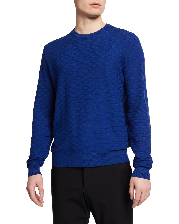 Men's Textured Tonal Crewneck Sweater