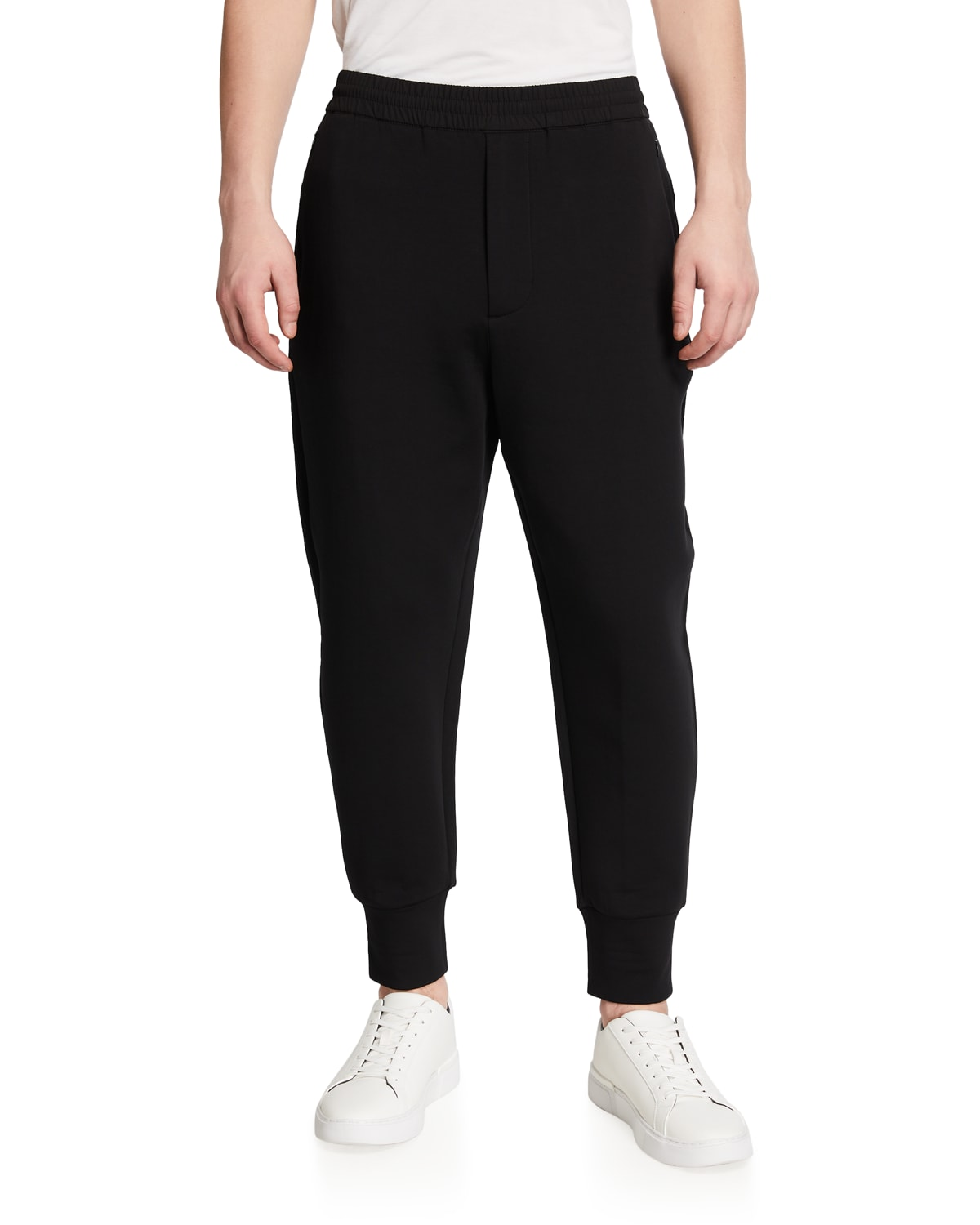 Men's Pleated Travel Stretch Jogger Pants
