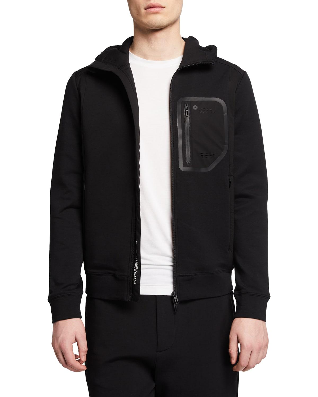 Men's Zip-Up Travel Hooded Jacket